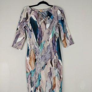 H&M Shift Dress Size 8 Marble Print